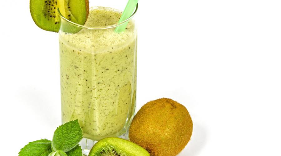 10 boissons détox pour s'affiner avant l'été -bodysculptor-Milkshake à la menthe, au lait et au kiwi